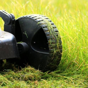 Using a standard push mower
