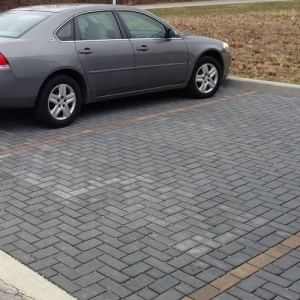 Permeable pavers for parking stalls