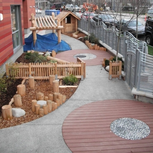 Circular forms made with composite decking