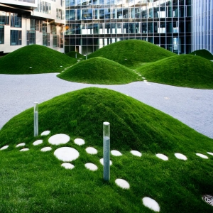 Grass mounds