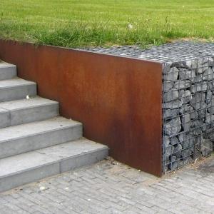 Corten steel divider