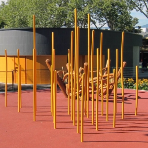 Powder coated poles at Oppenheimer Park