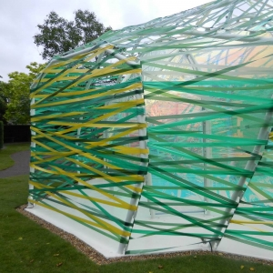 Plastic ribbons at the 2015 Serpentine Gallery Pavilion by SelgasCano