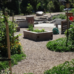 Community garden planters and clover pods