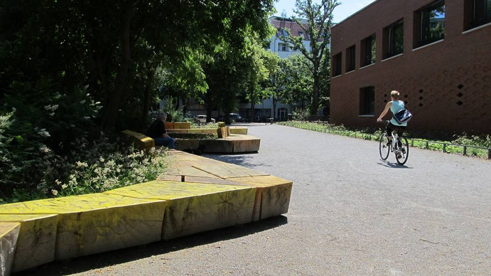 Cycling by the Winding Worm bench