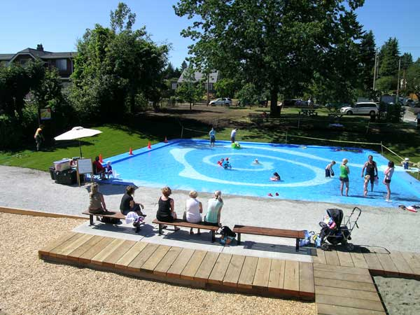 Revitalized wading pool