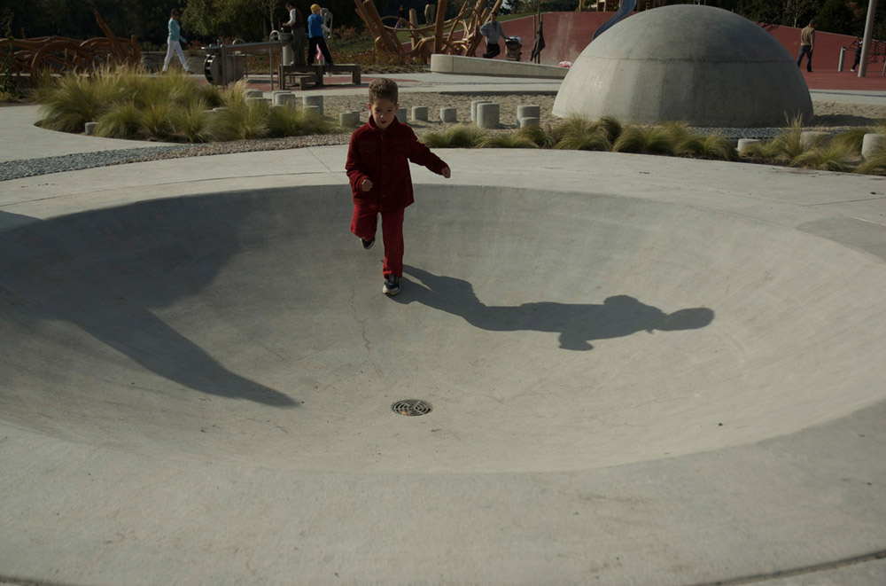 Running through the inverse of the concrete dome