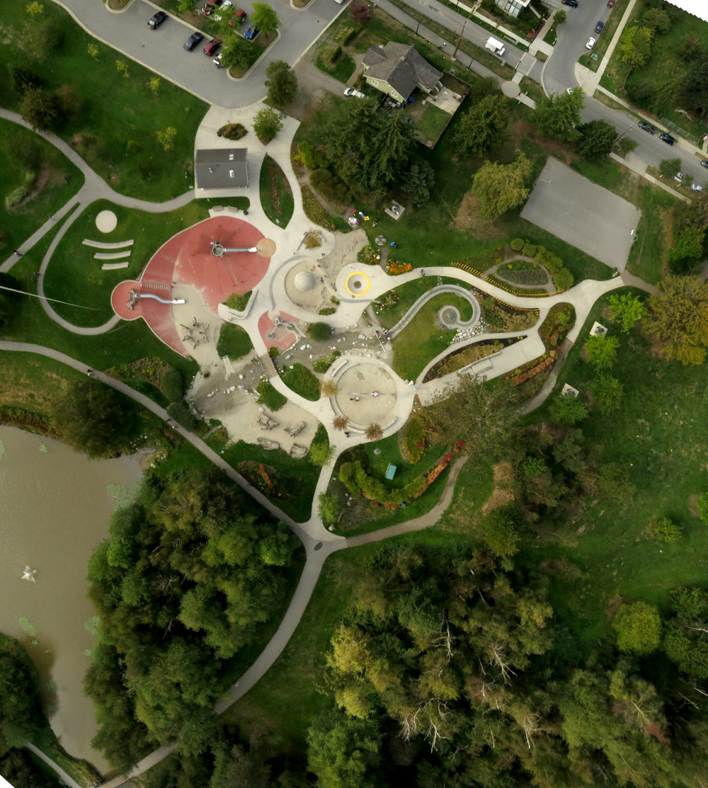 Aerial view of entire park