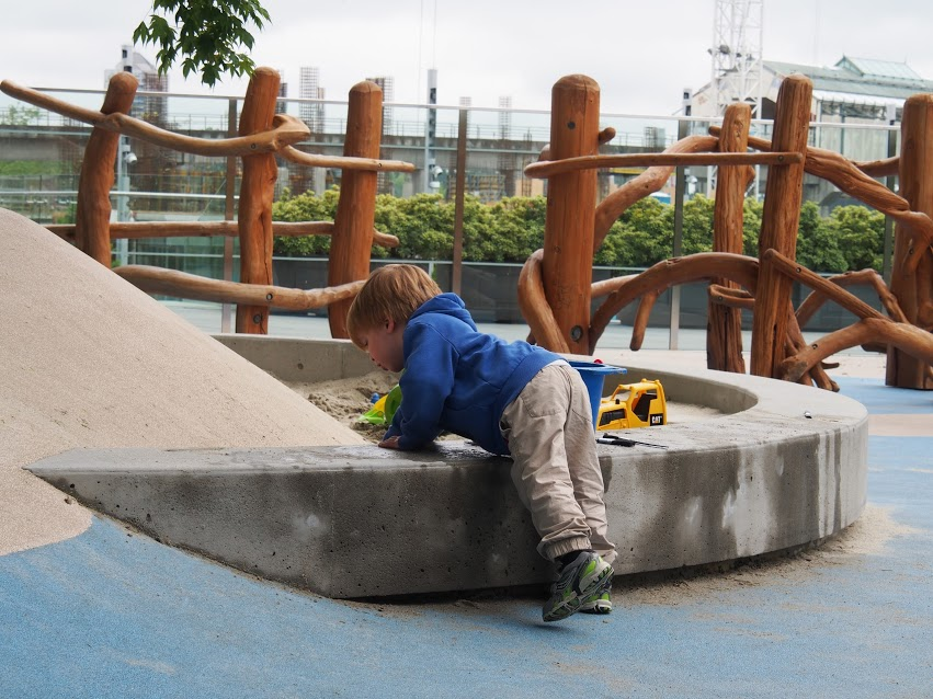 Bringing water to the sand allows for a new play experience